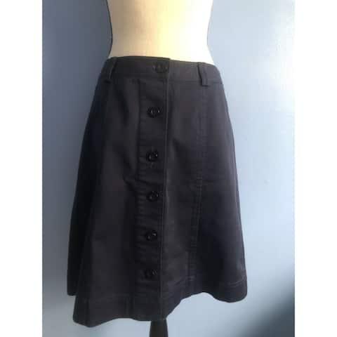 BAR III Womens Navy Midi Skirt Size 16