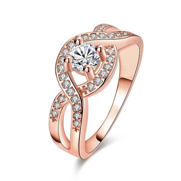 Bow-Tie Rose Gold Crystal Input Ring