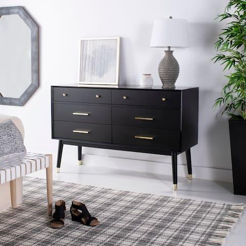 Safavieh Couture Madden Retro Dresser - Black / Brass