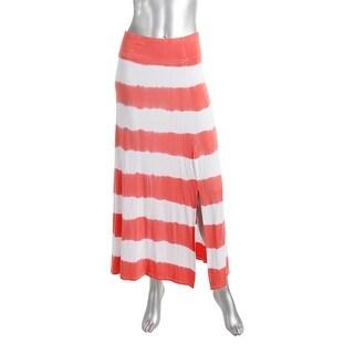 Kensie Womens Side Slits Tie Dye Maxi Skirt