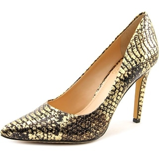 Vince Camuto Kain Women Pointed Toe Leather Gold Heels