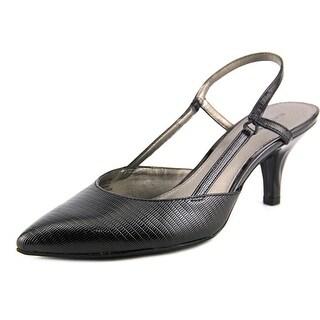 Bandolino I Believe Women Pointed Toe Synthetic Black Slingback Heel