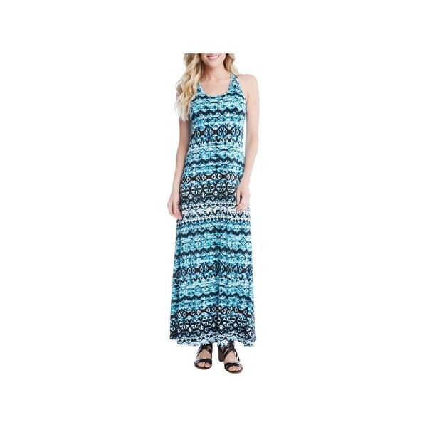 6a6446f07e76d Karen Kane Womens Maxi Dress Jersey Printed