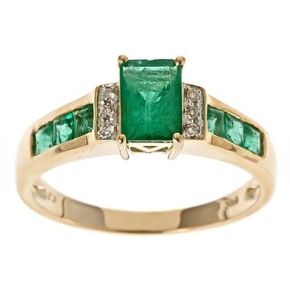 Link to Anika and August Zambian Emerald and Diamond Accent Ring Similar Items in Rings