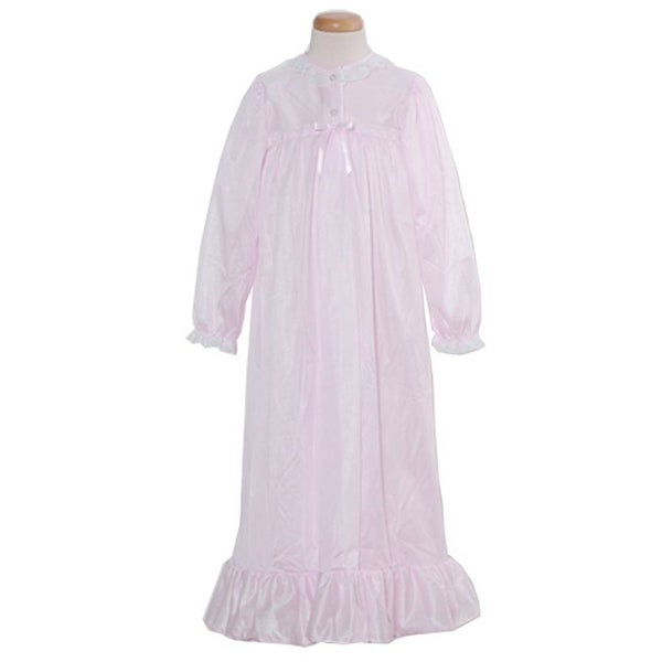 c19207080 Shop Laura Dare Toddler Little Girls 2T-14 Pink Classic Nightgown ...