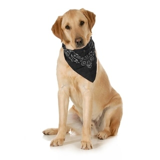 Link to Mechaly Paisley Cotton Dog Scarf Triangle Bibs  - XL & Washable - One Size Similar Items in Hair Accessories
