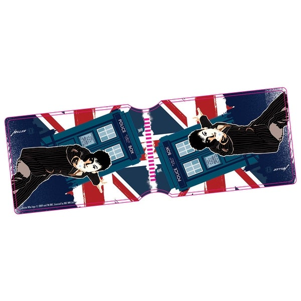 Doctor Who Tenth Doctor Union Jack Travel Pass Holder - One Size Fits most