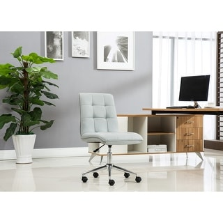 Link to Porthos Home Leona Adjustable Steel and Faux Leather Office Chair Similar Items in Office & Conference Room Chairs