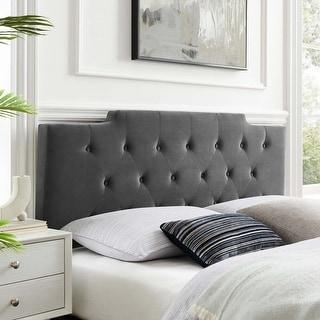 Link to Juliet Tufted King/California King Performance Velvet Headboard Similar Items in Bedroom Furniture