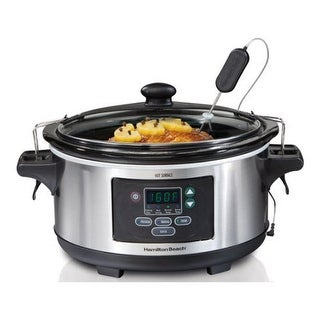 Hamilton Beach 33963 Set & Forget 6-Quart Programmable Slow Cooker Stainless - Stainless Steel