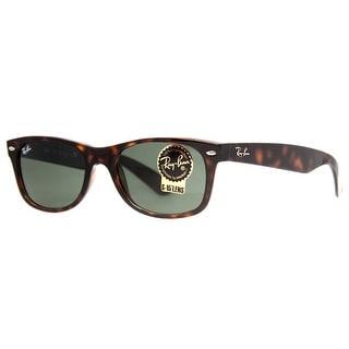 Ray Ban RB 2132 902 52mm Tortoise Brown Green Classic Square Sunglasses - Dark Havana - 52mm-18mm-145mm