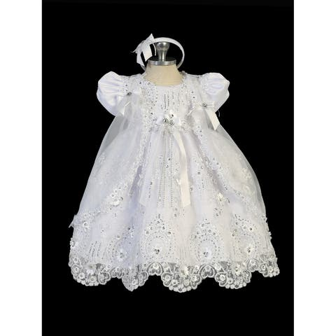40a57b22db979 Buy Girls' Christening Gowns Online at Overstock | Our Best Girls ...