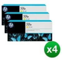 HP 771A 3-Cartridges 775-ml Yellow DesignJet Ink Cartridges (B6Y42A) (4-Pack)