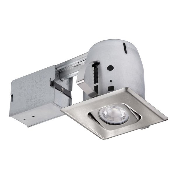 Globe Electric 90039 1-Light Recessed Lighting Kit Includes Trim, Housing / Can, Patented Clip System and Electrical Box