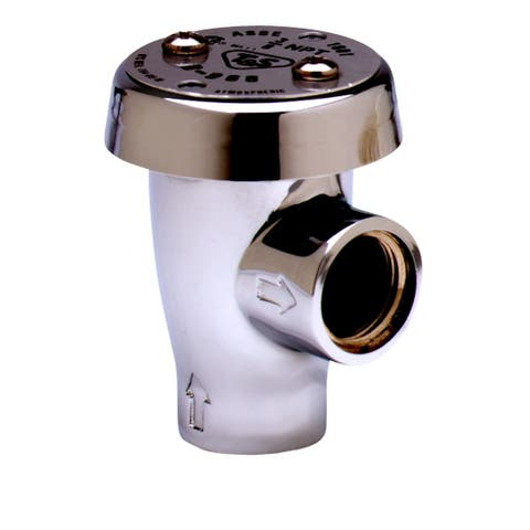 """T and S Brass B-0968 Atmospheric Vacuum Breaker with 3/8"""" NPT Inlet & Outlet - Polished Chrome"""