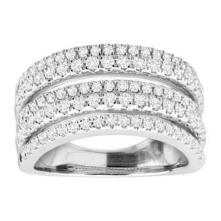 1 ct Diamond Multi-Band Anniversary Ring in 10K White Gold