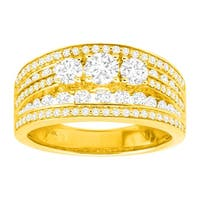 1 1/2 ct Diamond Multi-Band Anniversary Ring in 14K Gold