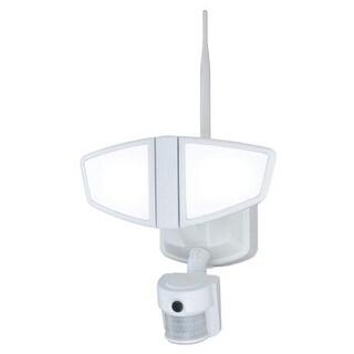 Vaxcel Lighting T0172 Epsilon 2 Light LED Motion Sensor Photocell Outdoor Flood Light with Wi-Fi Camera