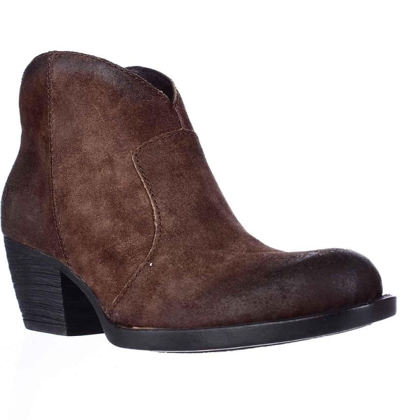 Born Michel Short Western Ankle Boots, Rust
