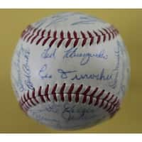 1955 NL All Star Autographed Baseball Schoendienst Aaron Banks Mays 27 JSA