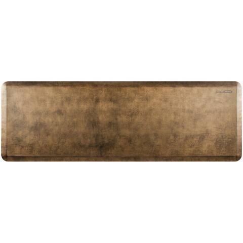 """WellnessMats Estates Linen Anti-Fatigue Office, Bathroom, & Kitchen Mat, Bronze, 72"""" by 24"""""""
