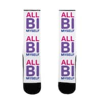 All Bi Myself US Size 7-13 Socks by LookHUMAN