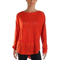 Free People Womens Sweatshirt Lace Long Sleeves