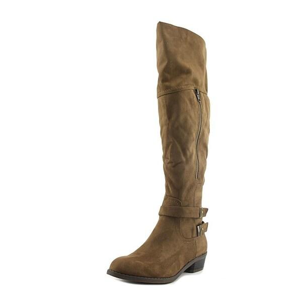 Indigo Rd. Custom Women Round Toe Canvas Brown Knee High Boot