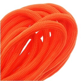 Paracord 550 / Nylon Parachute Cord 4mm - Neon Orange (16 Feet/4.8 Meters)