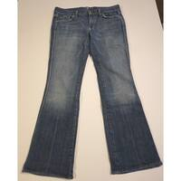 7 For All Mankind Blue Women's Size 28 Embroidered Boot Cut Jeans