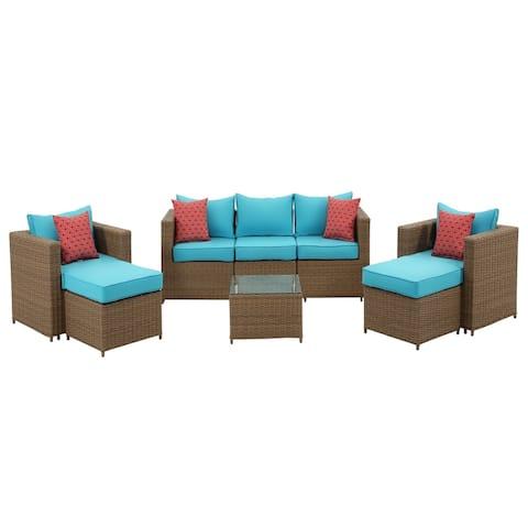 Boyel Living 8 PCS Resin Wicker Patio Seating Set