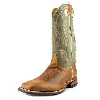 Justin Boots BR354 Men 2E Square Toe Leather Tan Western Boot