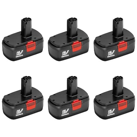 6 Pack Replacement for Craftsman 11375 DieHard C3 130279005 2000mAh Power Tool Battery