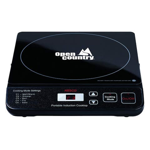 Open Country by Nesco PIC-14SK Portable Induction Cooktop