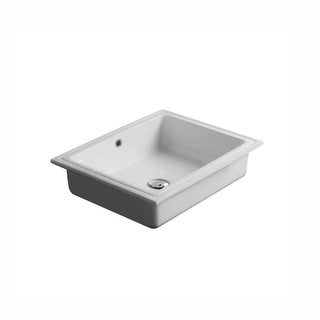 """WS Bath Collections City 54.43 City 21-3/10"""" Undermounted Bathroom Sink with Overflow - ceramic white"""