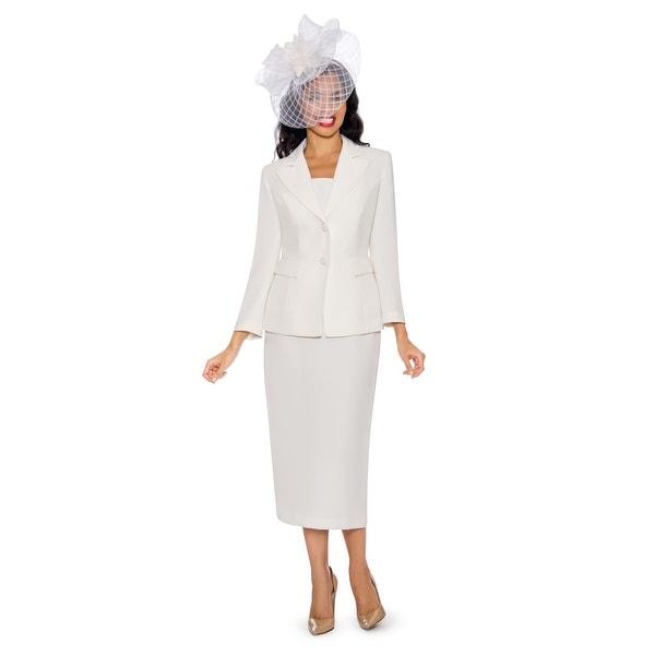 Giovanna Signature Women's Notch Collar 2-piece Skirt Suit. Opens flyout.