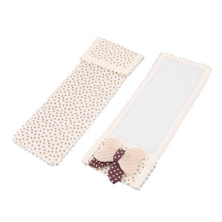 Home Cotton Blends Rectangular Butterfly Knot Decor Remote Control Pouch Cover