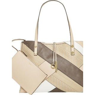 Calvin Klein Womens Kitote Tote Handbag Leather Reversible - Large