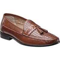 Nunn Bush Men's Strafford Woven 84484 Moc Tassel Loafer Cognac Leather