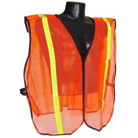 "Radians SVO1 Non Rated Safety Vest With 1"" Tape, Orange Mesh, 2X/5X"
