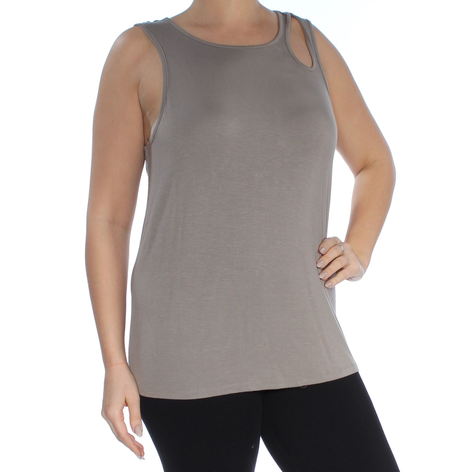 Womens Cut Off Tank Top Gray BE YOU DO YOU FOR YOU Sz L