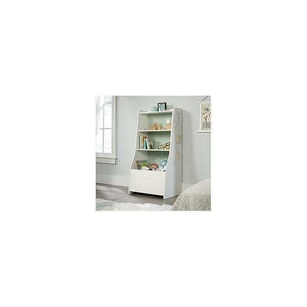 Sauder Woodworking 422600 Pinwheel 27 Inch Wide Ready To Assemble Bookcase With Soft White