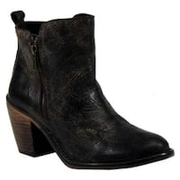 Diba True Women's Java Time Ankle Boot Charcoal Leather