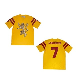 Game of Thrones House Lannister Men's Yellow Athletic Football Jersey
