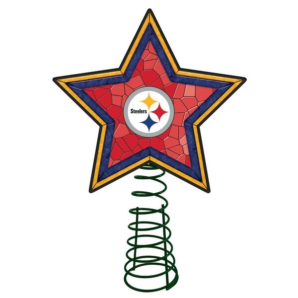 Pittsburgh Steelers Mosaic Tree Topper