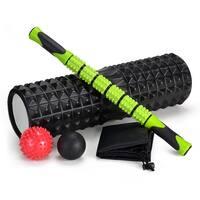 "5-In-1 Large size 18"" Foam Roller Kit w/ Muscle Roller Stick & Massage Balls"