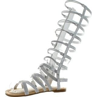 Stuart Weitzman Girls Carmia Spartahi Designer Tall Gladiator Sandals