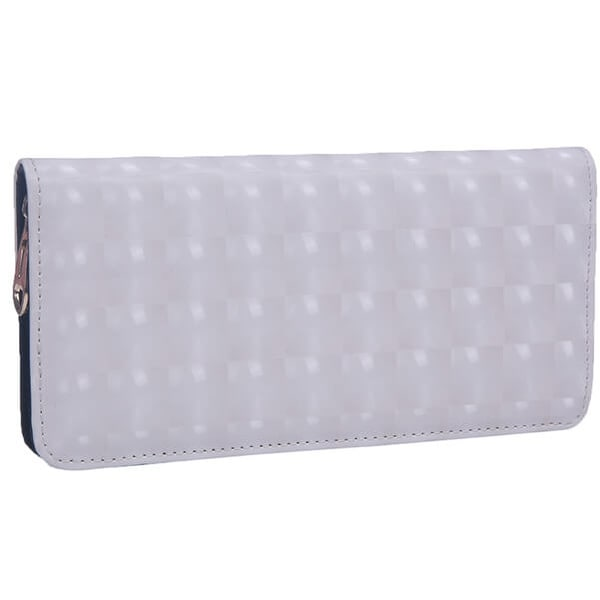 Mad Style White 3D Hologram Zipper Wallet