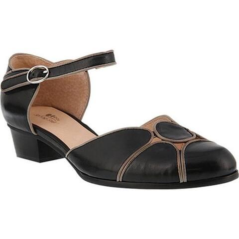 Spring Step Women's Lenna D'Orsay Shoe Black Leather