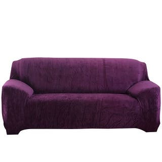 L-Shaped Stretch Sofa Covers Chair Covers Couch Sofa for 1 2 3 Seater Purple